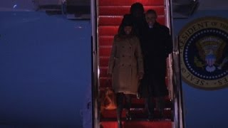 Raw: President Obama Returns From Chicago