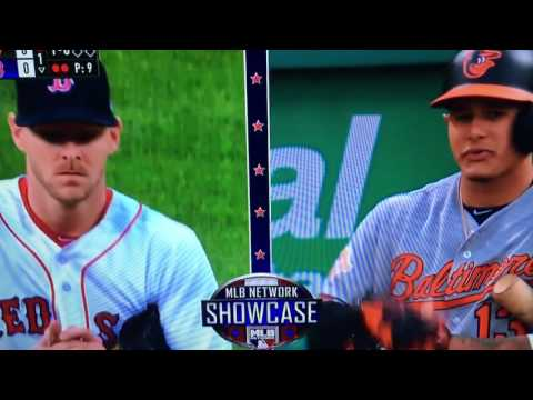 Chris Sale Throws at Manny Machado