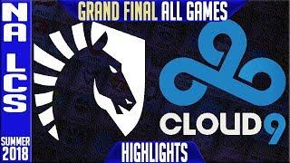 TL vs C9 Highlights ALL GAMES   NA LCS Playoffs Final Summer 2018   Team Liquid vs Cloud9