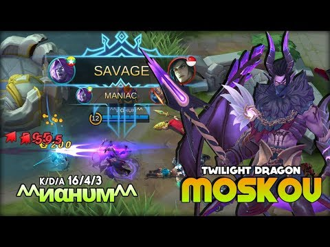 1 Savage 2 Maniac! 10k++ Match Moskov is Real! ^^иαнυм^^ Top Global Moskov ~ MLBB