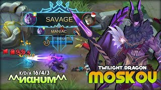 1 Savage 2 Maniac! 10k++ Match Moskov is Real! ^^иαнυм^^ Top Global Moskov ~ MLBB