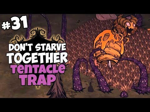 Killing Bee Queen in the Tentacle Trap - Don't Starve Together Gameplay - Part 31