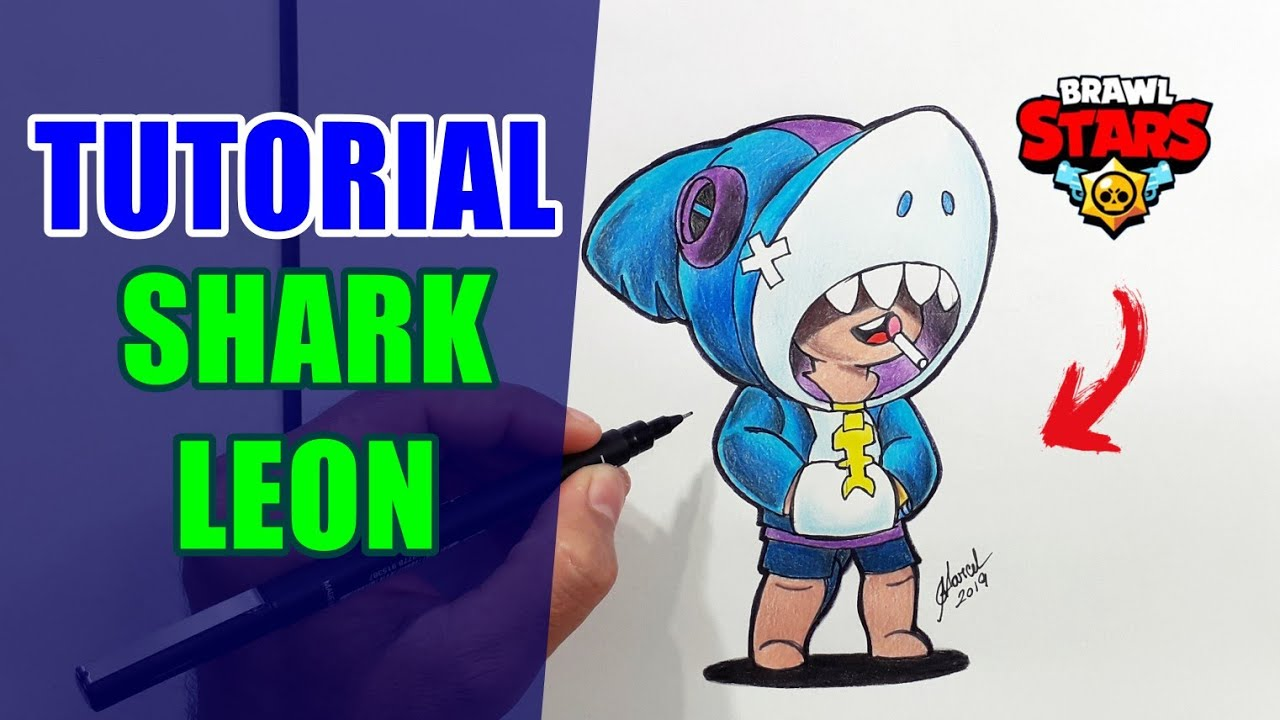 Tutorial Leon Shark Skin Brawl Stars Como Dibujar Brawl Stars