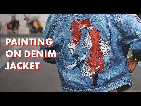 I Custom Painted My Denim Jacket
