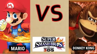 Mario VS Donkey Kong - Super Smash Bros For 3DS Battle #71