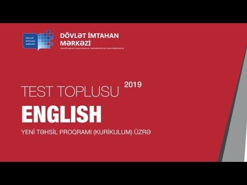 Ingilis Dili Yeni 2019 Test Toplusu 2 Ci Hissə Cavablar Hd Youtube