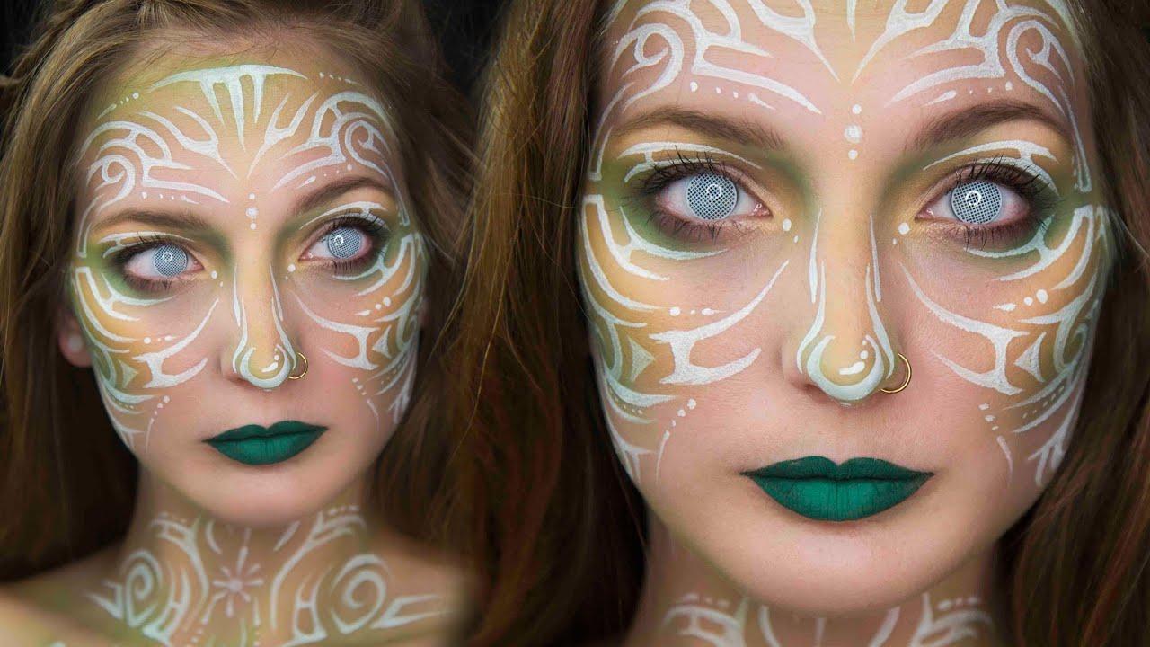White Face Paint Designs