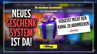 Fortnite Live English: SKINS VERSCHENKEN! GIFT FUNCTION is here!!! 😍 ❤ Livestream | Jonny