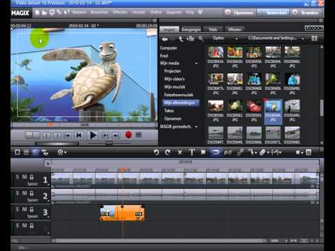 Tutorial: MAGIX Video deluxe 16 - Chromakeying (NL)