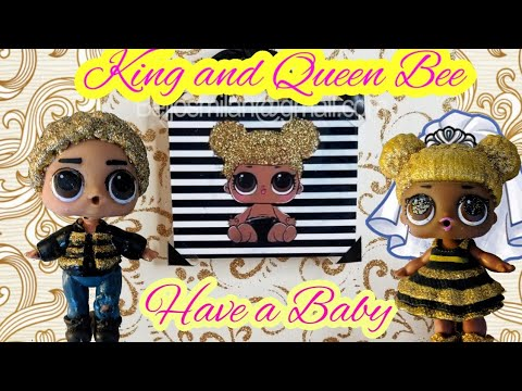 LOL Surprise Queen Bee and King Bee Meet Baby | Baby Nursery | LOL Queen Bee Episode 1