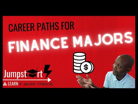 CAREER PATHS FOR FINANCE MAJORS - What jobs can you get with a FINANCE DEGREE?