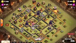 Clash of Clans - 3 STAR Aqwalk + Lightning + Eq Th10 - Wolf (30/11/15)