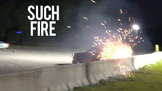 350Z IS A FLAMING SPARK SHOW! (VERY DANGEROUS)