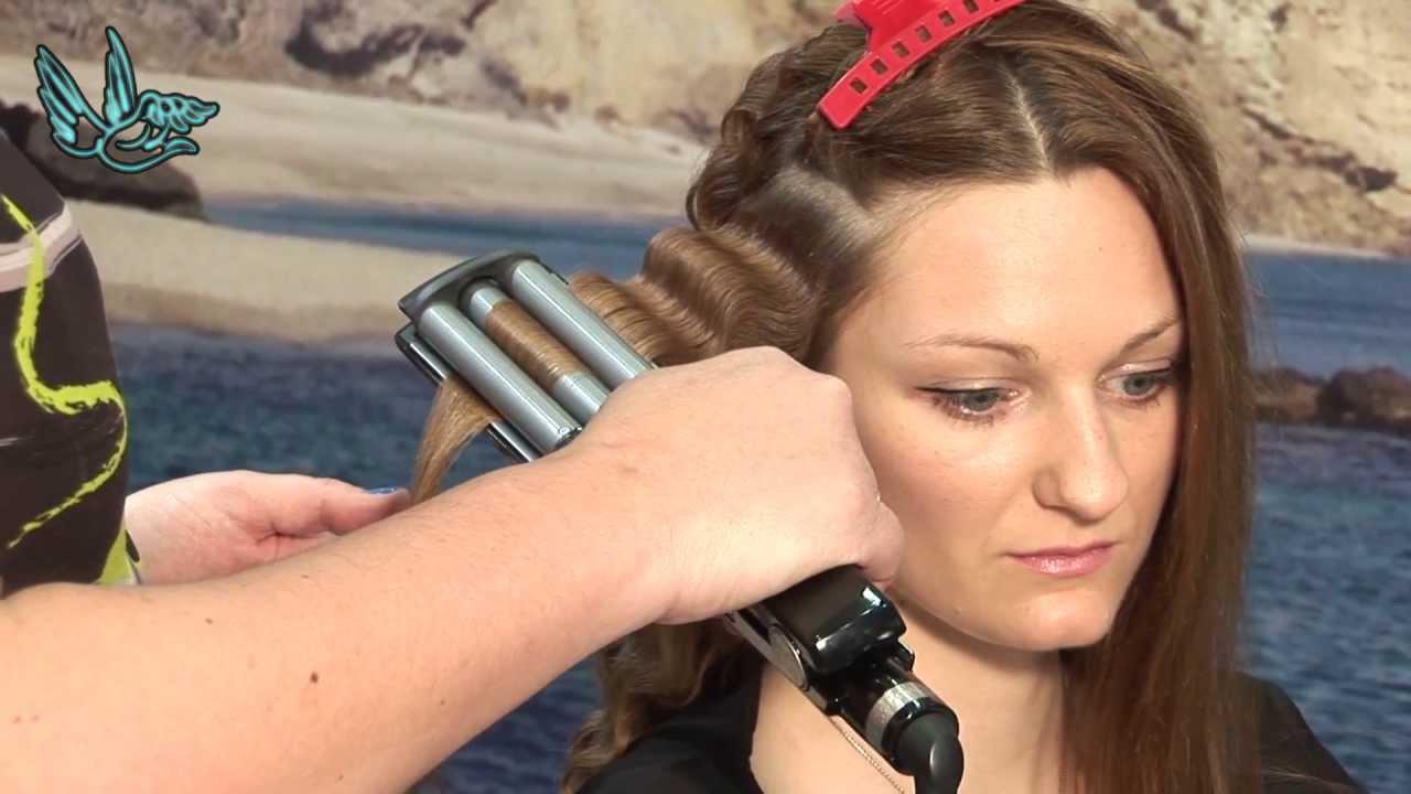ondas con tenacillas tres ondas manos de ngel tutoriales de peluqueria youtube - Peinados Con Tenacillas