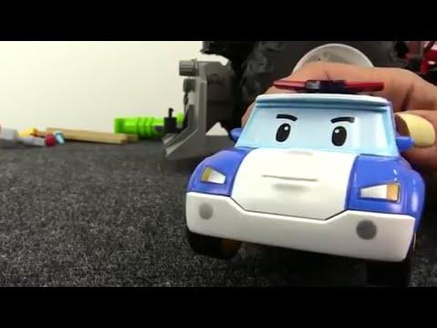 Carros - Coche de policía - Robocar Poli Toys - 로보카 폴리 장난감들 - Rescue Team