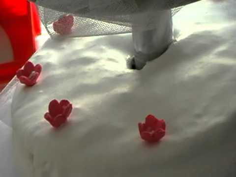 Hochzeitstorte Zuckertraum Zuckerveilchen Backschule Weddingcake