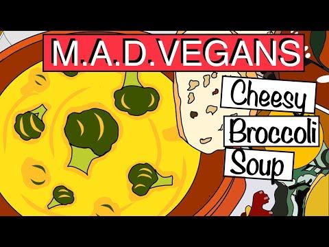 Best Vegan-CHEESY BROCCOLI SOUP-IN COMIC