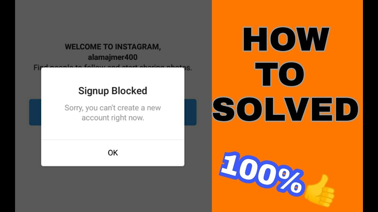 How To Fix INSTAGRAM Sign up blocked NEW TRICK 2019 || 100%