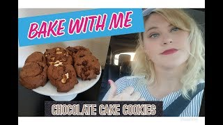 BAKE WITH ME / CHOCOLATE CAKE COOKIES / 3 EASY INGREDENTS TO DELICIOUSNESS