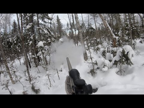 Tracking A BIG MAINE BUCK In Snow Day 1 Of 2 (Shot Fired!): A How-To Video