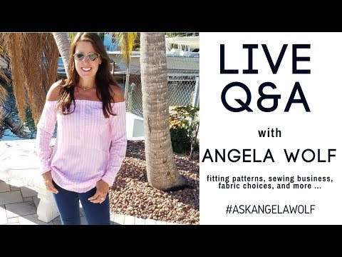 Draping, Starting a Sewing Business, Sewing for Tweens, Choosing Pattern Size | #AskAngelaWolf