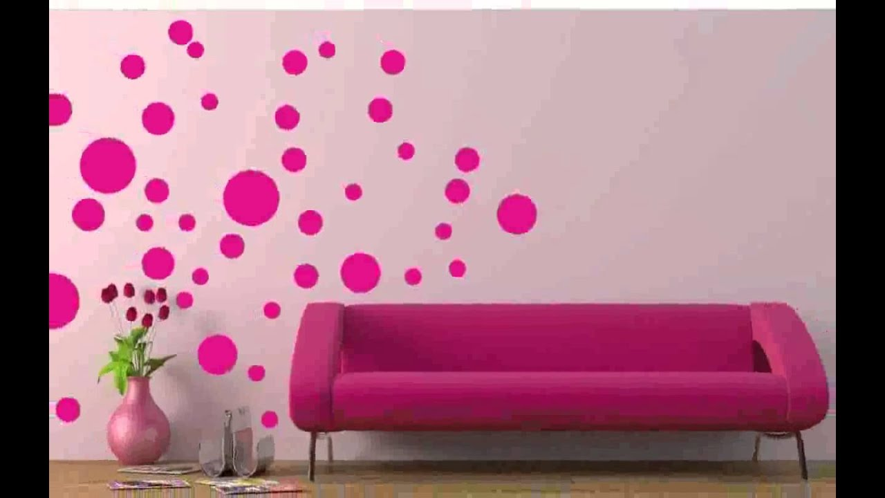 Black polka dot wall decals ideas photos youtube for How to make polka dots on wall