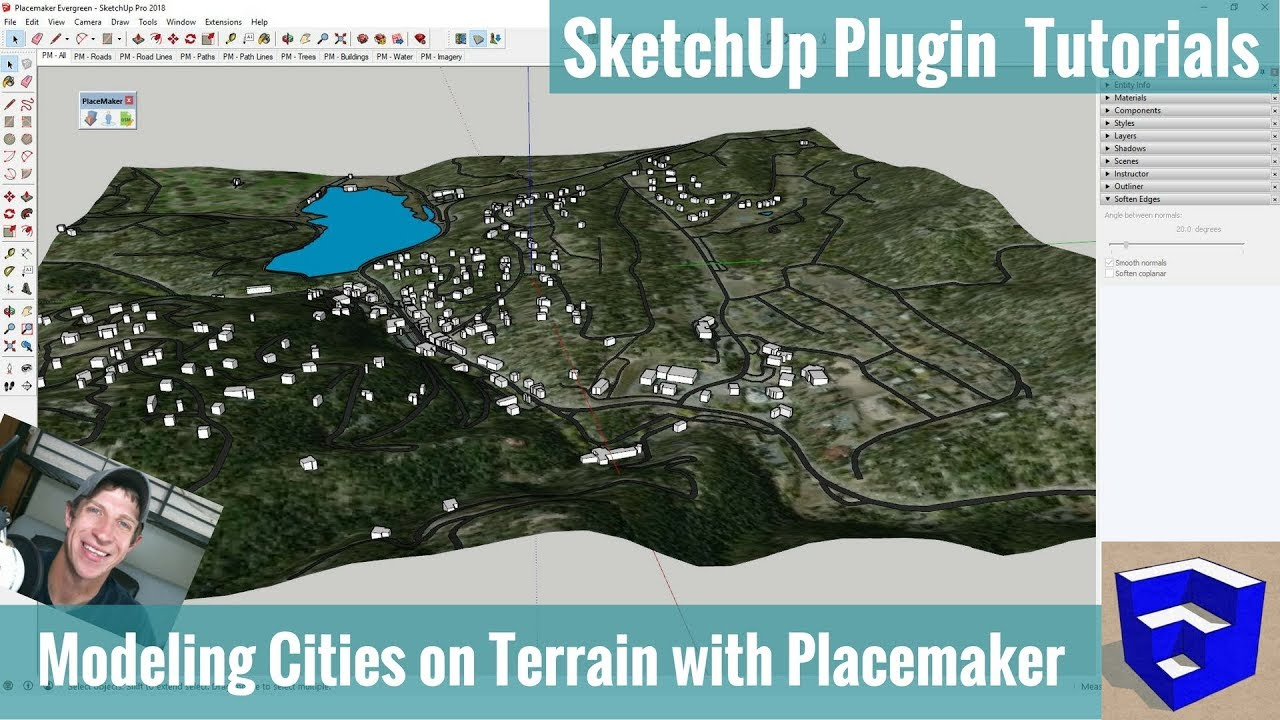 Quickly Modeling a City in SketchUp on Hilly Terrain with