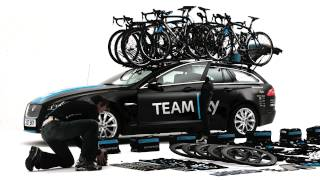 Team SKY, Jaguar XF Sportbrake loading up for the Tour de France
