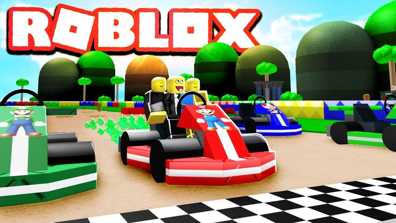 Mario Kart At Roblox Mario Kart In Roblox Youtube