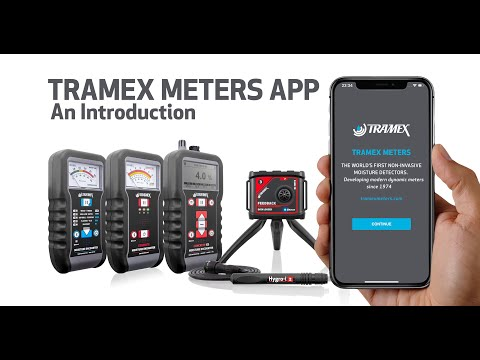 Tramex Meters App – for 5-series Moisture Meters – An Introduction