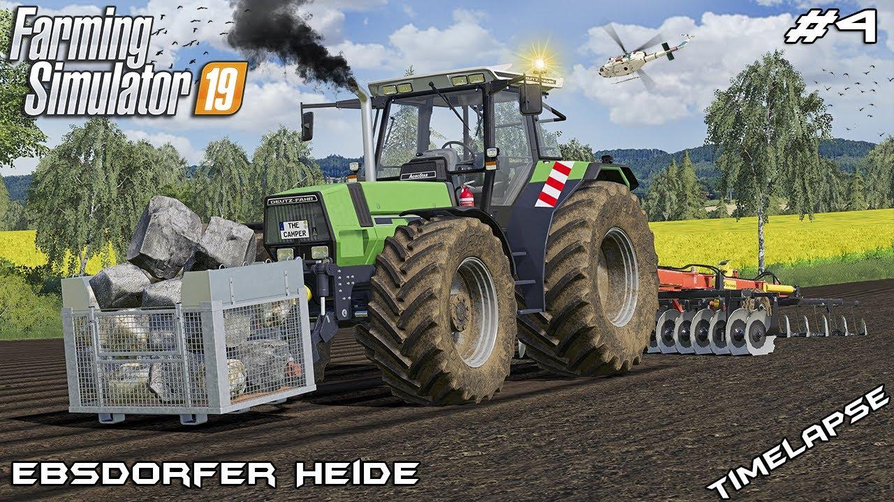 Download Collecting ROCKS & CULTIVATING with Deutz-Fahr   Ebsdorfer Heide   Farming Simulator 19   Episode 4