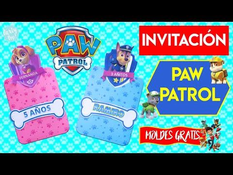 Paw Patrol Invitación Paw Patrol Diy Moldes