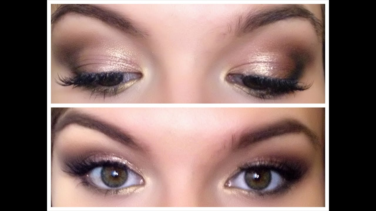 Delikatne Smoky Eye Złoto I Brąz Youtube