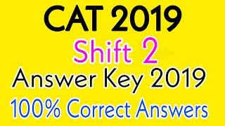 CAT Answer Key 2019 | CAT Shift 2 Answer Key 2019