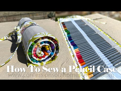 How To Sew A ROLL UP PENCIL CASE // TUTORIAL