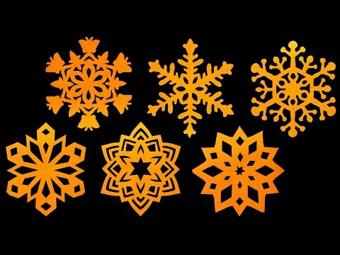 How to make paper Snowflakes - Step by step tutorial (Very easy) - HD