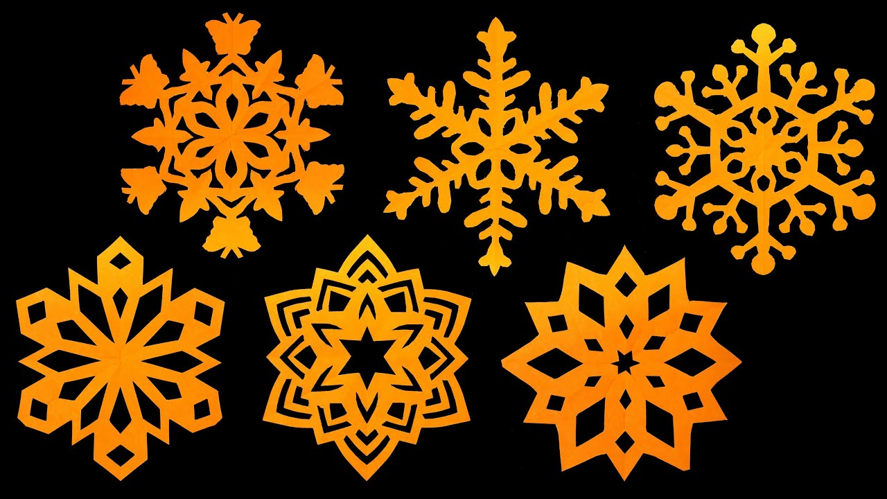 how to make paper snowflakes step by step tutorial very easy hd youtube