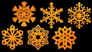 How to make paper Snowflakes - Step by step tutorial (Very easy) - HD thumbnail