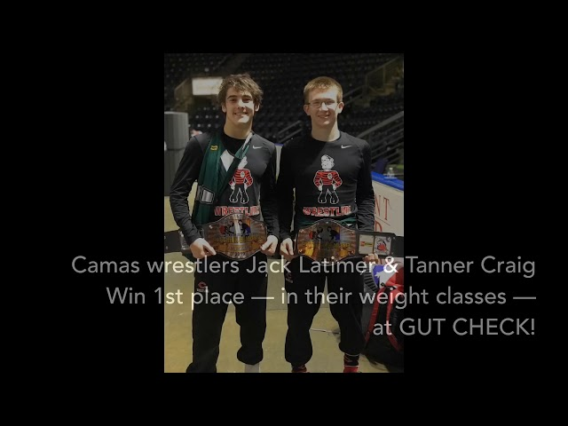 #Camas Wrestling: Jack Latimer & Tanner Craig Win 1st Place At Gut Check