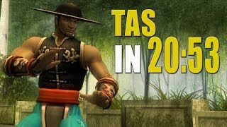 [TAS] Mortal Kombat Shaolin Monks KUNG LAO | IN 20:53 (PS2)