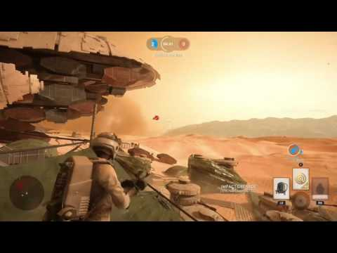 Pre-patch Impact Grenades Star Wars Battlefront Gameplay XB1