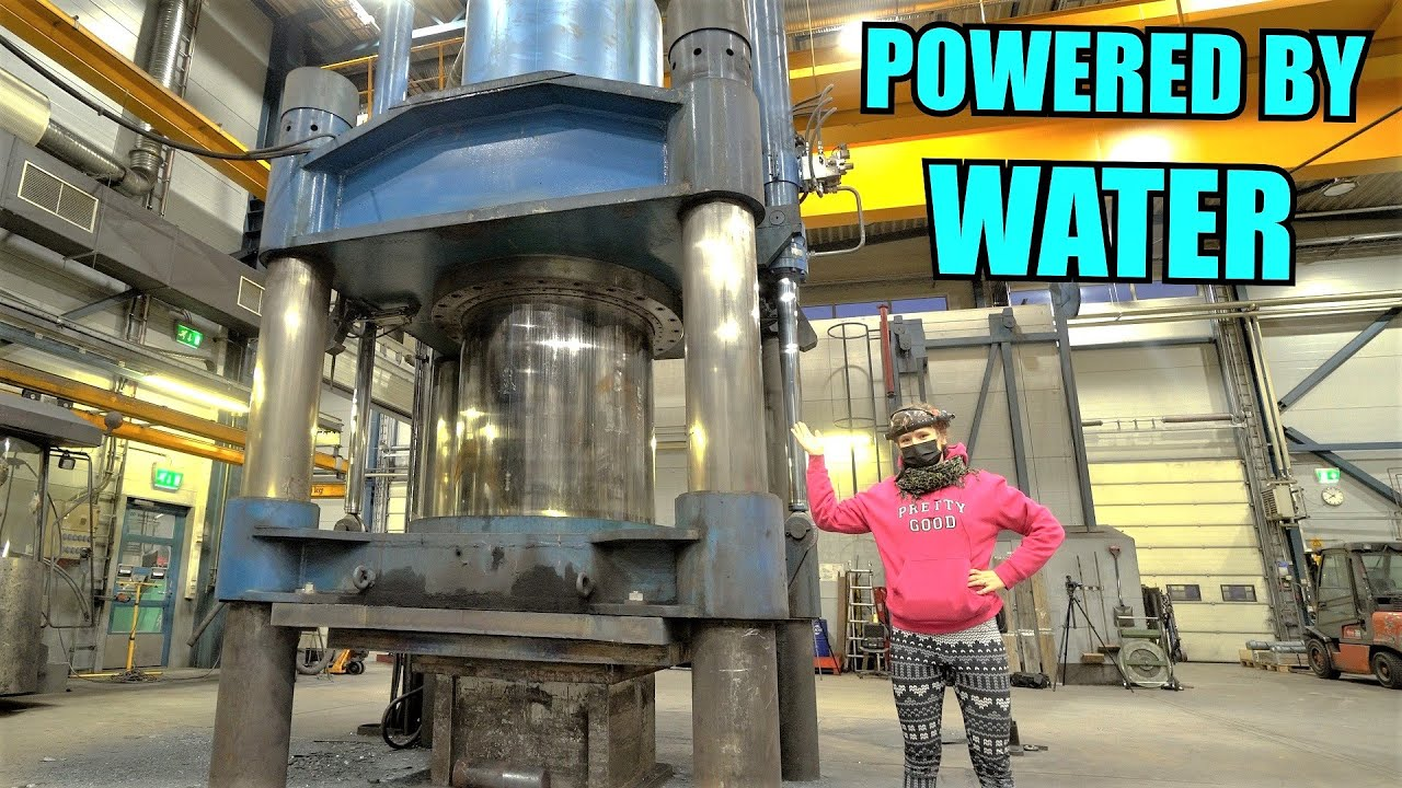 2000 TON HYDRAULIC PRESS | Speed and Power from pressure accumulators