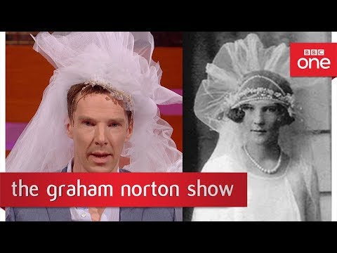 Benedict Cumberbatch recreates a photo of a 1920s bride - The Graham Norton Show: BBC One