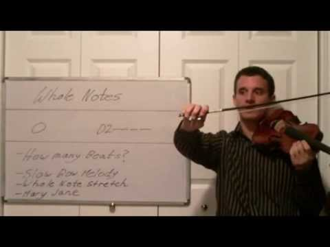 Violin Music Theory Lessons- Whole Notes in Music with Mary Jane