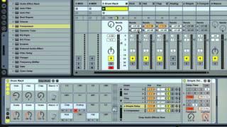 Ableton Live - Adding Send and Return Tracks - Using Drum Racks Part 33