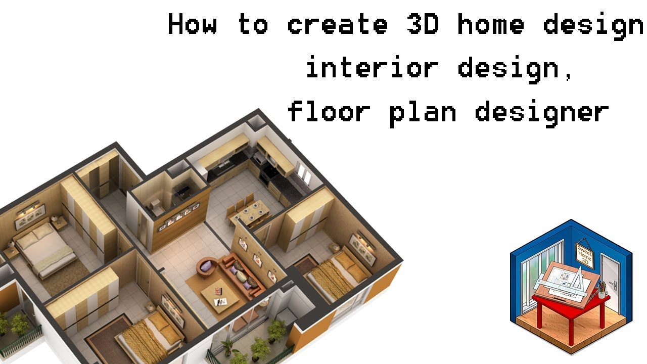 How to create 3d home design interior design floor plan designer tutorial 2