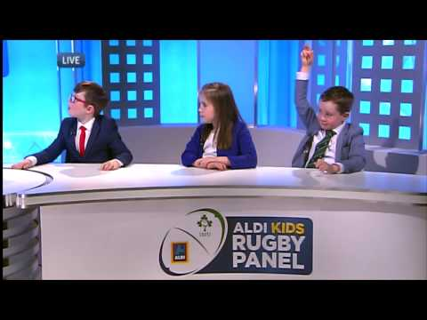 Aldi Kids Rugby Panel LIVE on RTE - 6 Nations Pre-Match Commentary 6th Feb - Scotland v Ireland