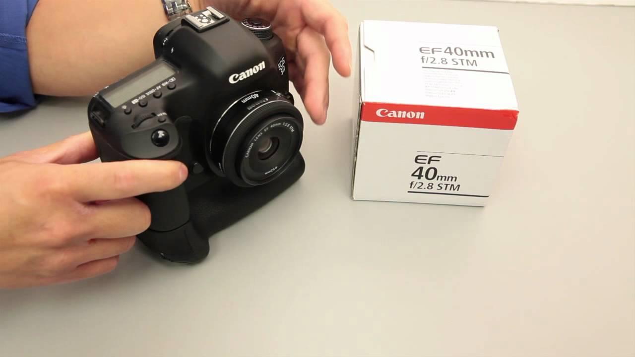 Canon EF 40mm f/2.8 STM \'pancake\' lens - YouTube