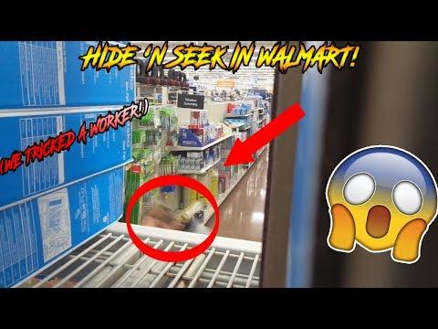 HIDE 'N SEEK IN WALMART! (WE TRICKED A WORKER!)